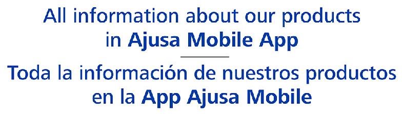 Toda la información de nuestros productos en la App Ajusa Mobile